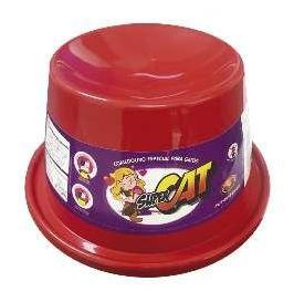 Comedouro Plástico para Gatos Super Cat Furacão Pet Vermelho - 200ml