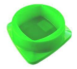 Comedouro Plástico Premium Verde Club Pet Maxx - 200ml