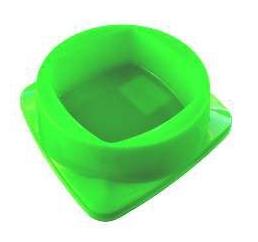 Comedouro Plástico Premium Verde Club Pet Maxx - 300ml