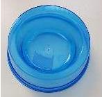 Comedouro Plástico Simples Azul Transparente - 300ML