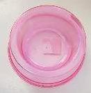 Comedouro Plástico Simples Rosa Transparente - 300ML
