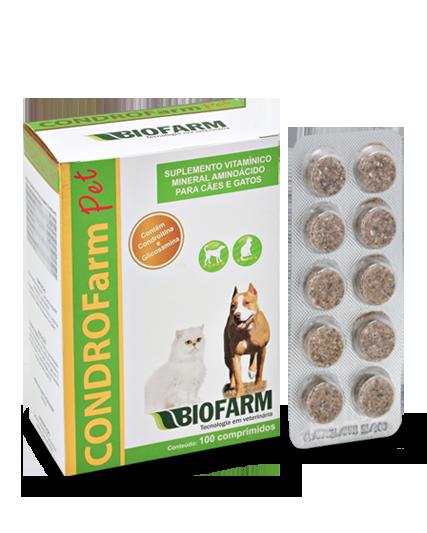 Condrofarm Suplemento Vitaminico com Condroitina, Glucosamina e Glutamina - Blister com 10 Comprimidos