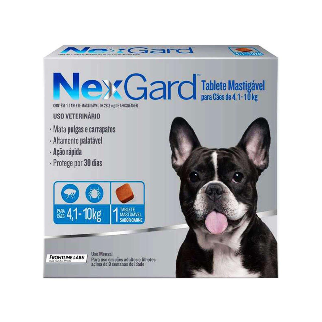 Nexgard 4 a 10 kg (Caixa c/ 1 Comprimido)