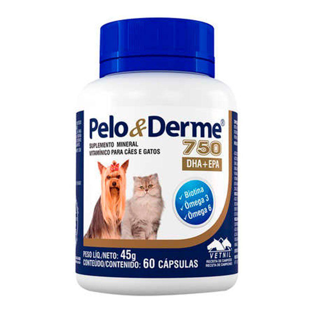 Pelo e Derme 750 DHA+EPA 60 capsulas