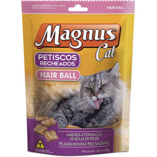 Petisco para Gatos Magnus Anti Bola de Pelo - 30g