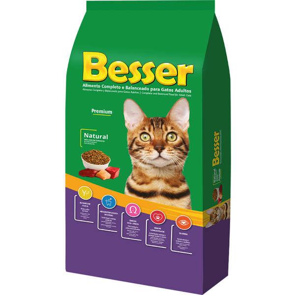 Ração Besser Natural Gatos Adulto - 10,1kg