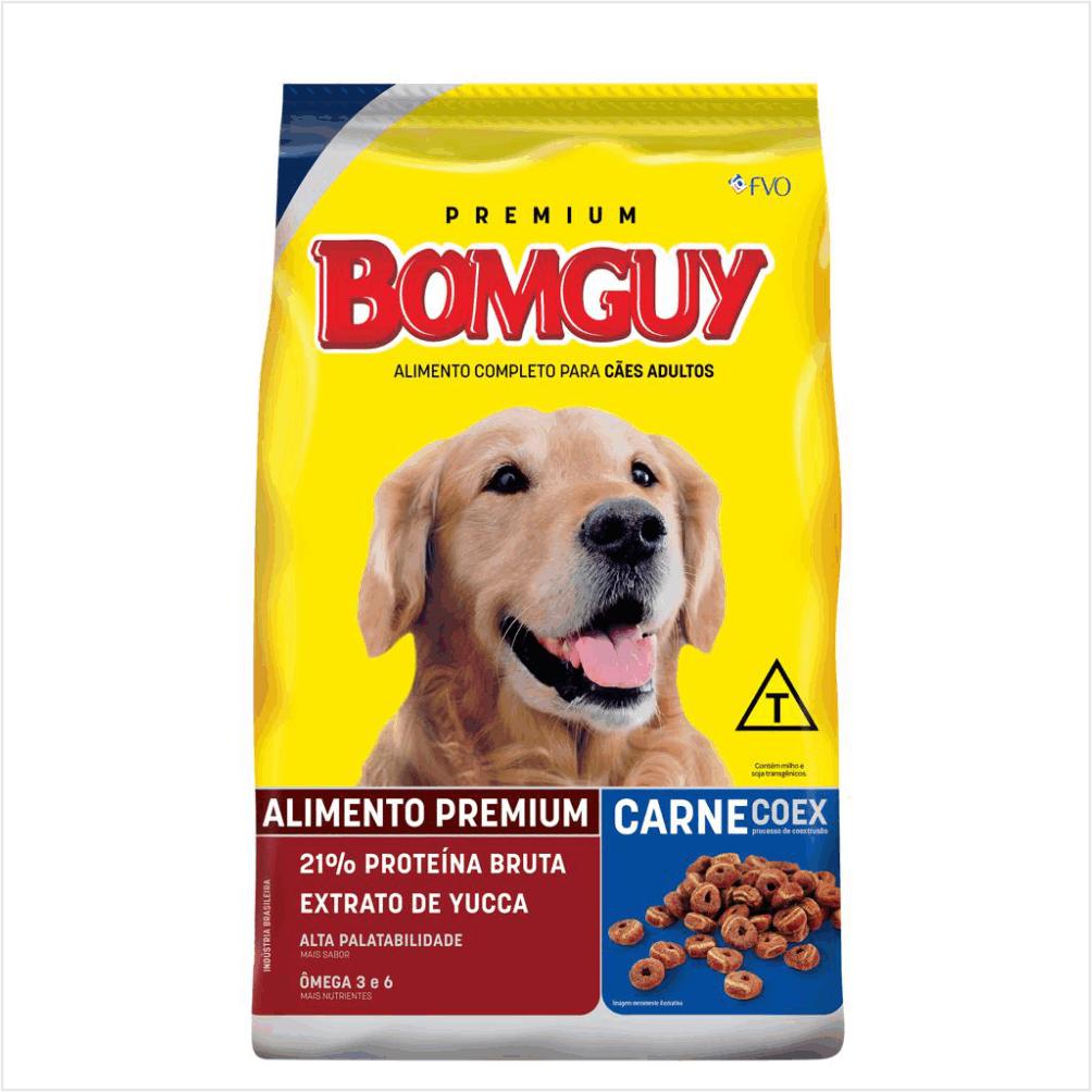 Ração Bomguy Carne Coex Adulto 25Kg