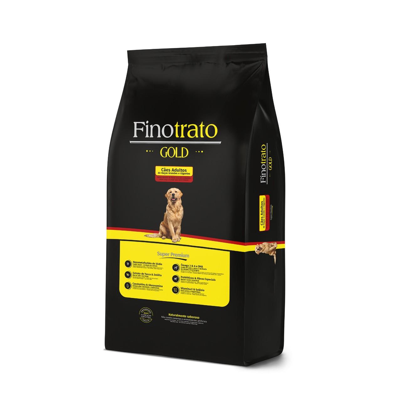 Ração Fino Trato Gold Grande Porte Adulto - 15Kg + 1,5Kg Grátis