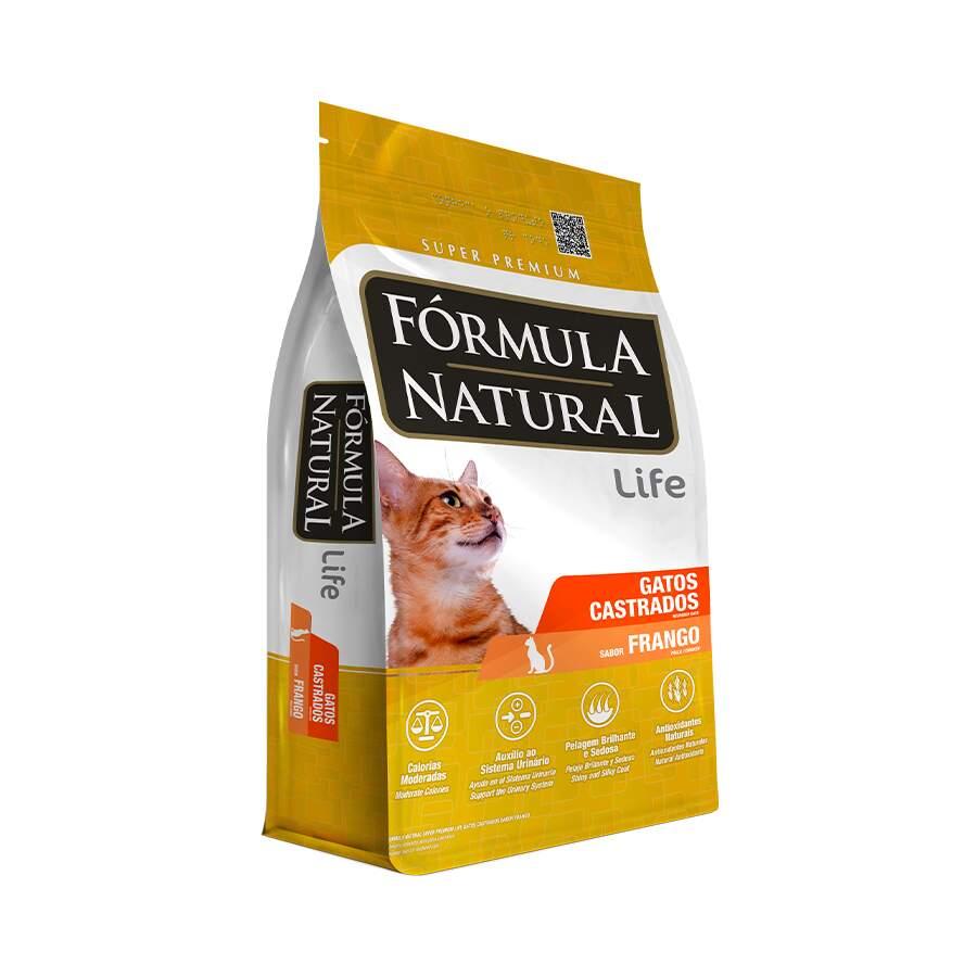 Ração Formula Natural Gato Frango Castrado 7Kg