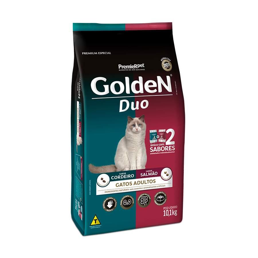 Ração Golden Gatos  Duo Adultos 10,1Kg