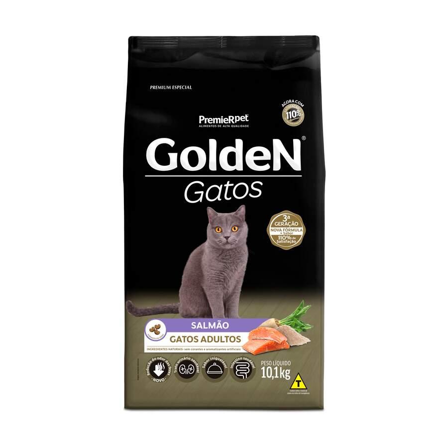 Ração Golden Gatos Salmão Adultos 10,1 Kg