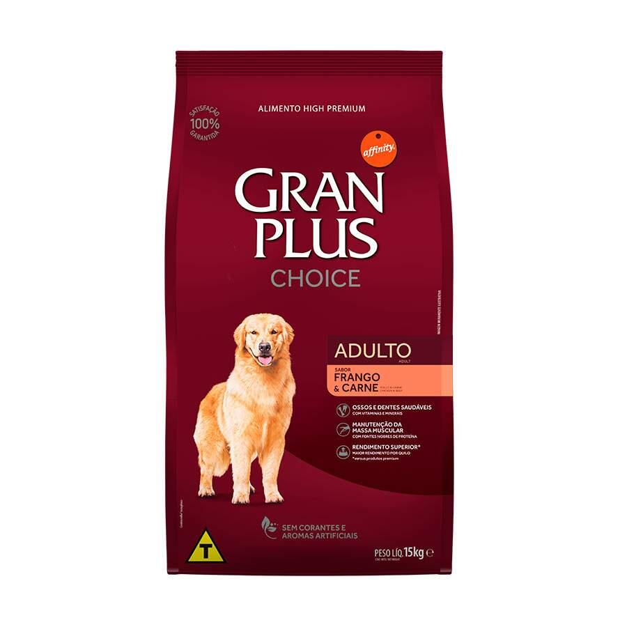 Ração Gran Plus Choice Frango e Carne Adulto 15Kg