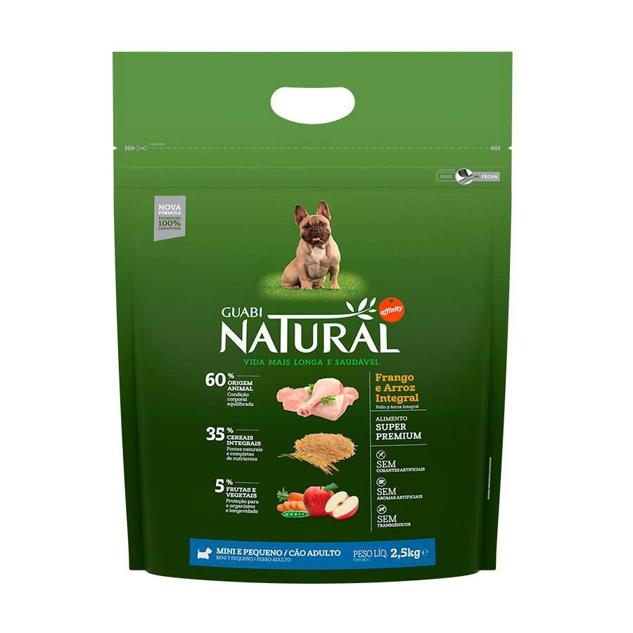 Ração Guabi Natural Mini Frango Arroz Integral Adulto  2,5Kg