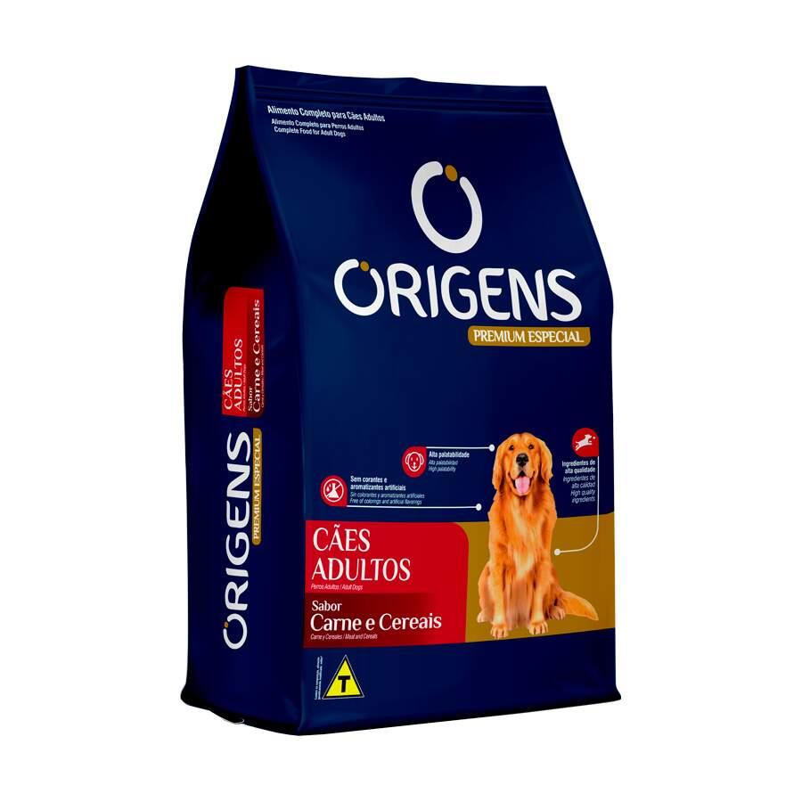 Ração Origens Cães Carne e Cereais Médio e Grande Porte Adulto 15Kg