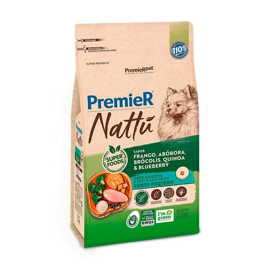 Ração Premier Cães Nattu Abóbora Raças Pequenas Adulto - 2,5 KG