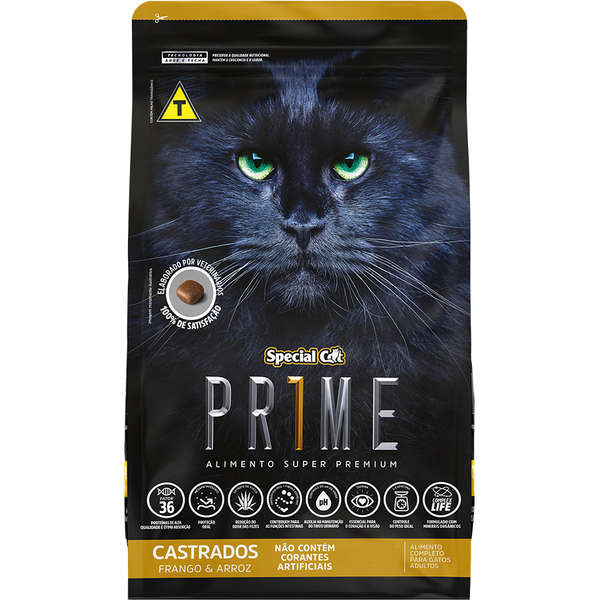 Ração Special Cat Prime Frango e Arroz Castrados  20Kg