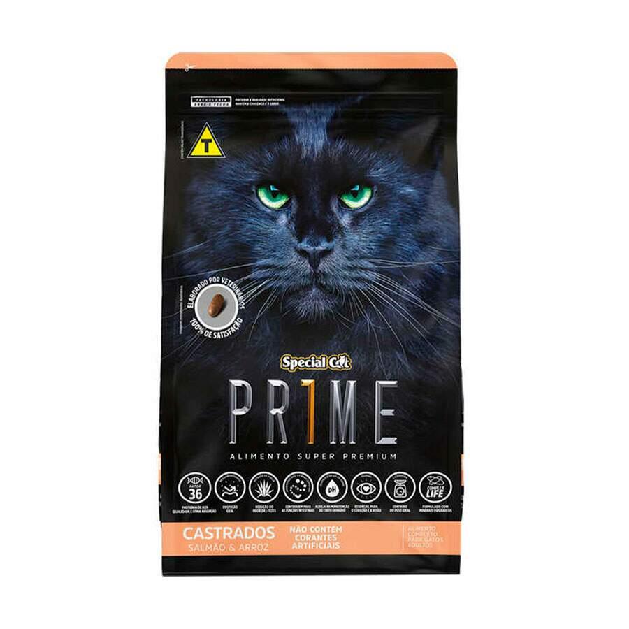 Ração Special Cat Prime Salmão e Arroz Castrado 10kg