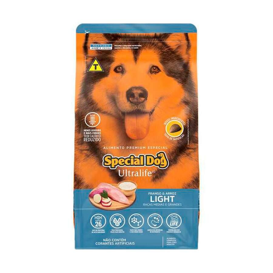 Ração Special Dog Ultralife Raças Médio e Grande Porte Light 15Kg