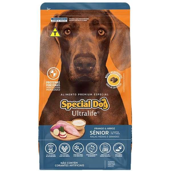 Ração Special Dog Ultralife Raças Médio e Grande Porte Sênior 15Kg