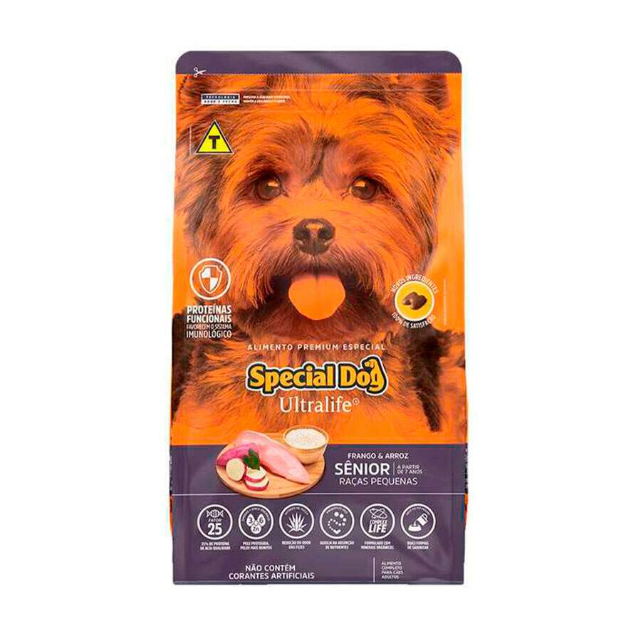 Ração Special Dog Ultralife Raças Pequenas Sênior 3Kg