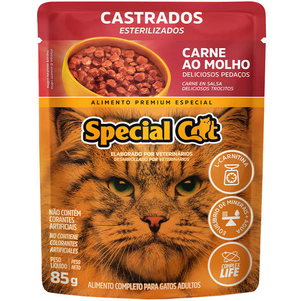Sachê Special Cat Carne Castrado 85g