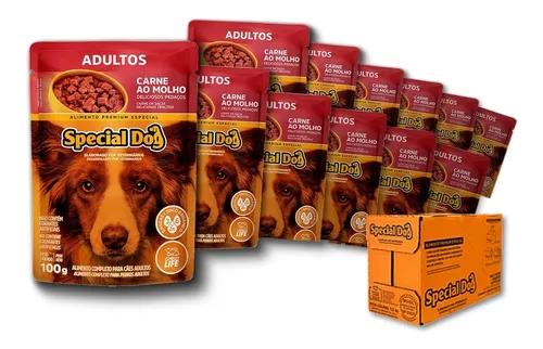 Sachê Special Dog Carne Adulto 100g - Caixa c/ 12 Und