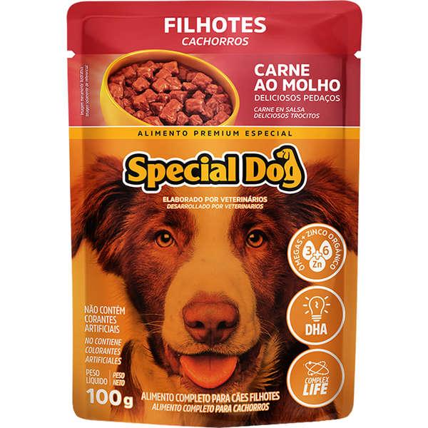 Sachê Special Dog Carne Filhote 100g