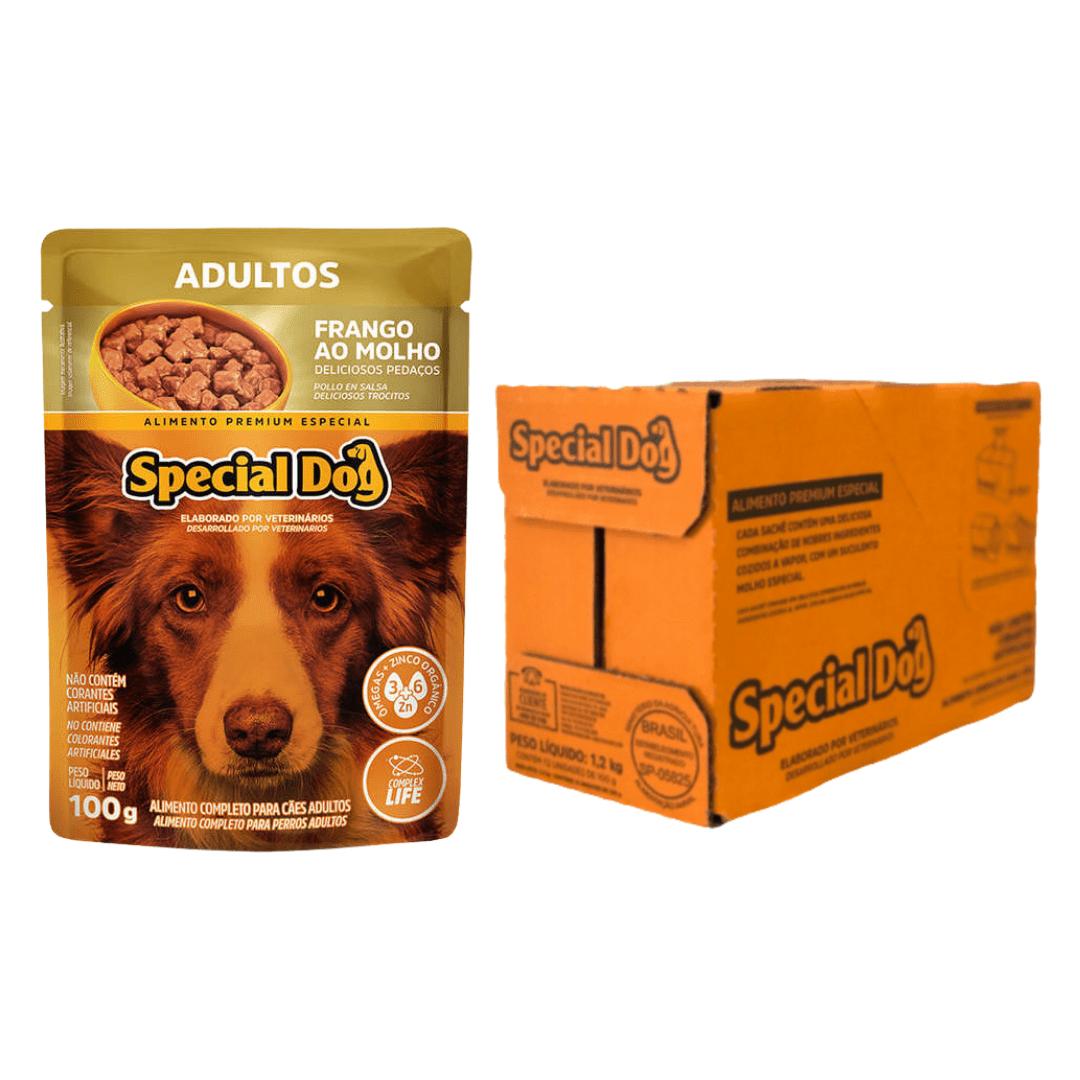 Sachê Special Dog Frango Adulto  100g - Caixa C/ 12Und