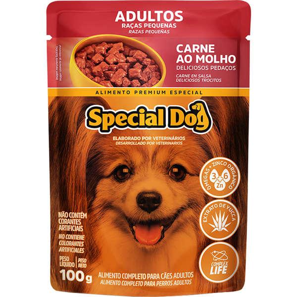Sachê Special Dog Raças Pequenas Carne Adulto 100g