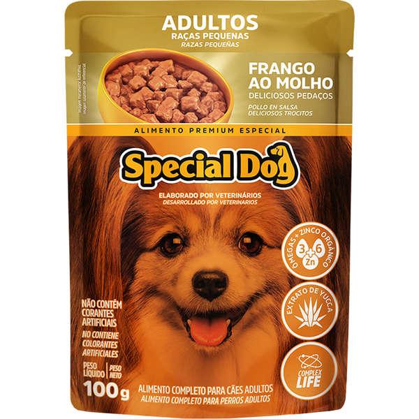 Sachê Special Dog Raças Pequenas Frango Adulto 100g