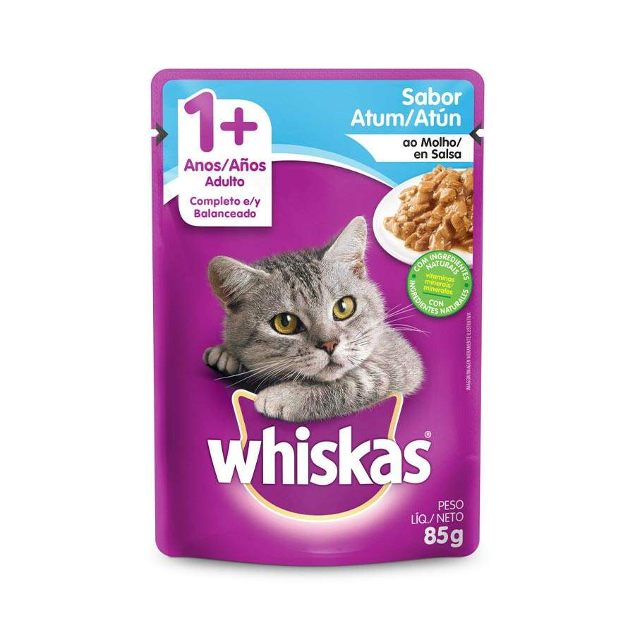 Sache Whiskas 1+ Atum Adulto 85g