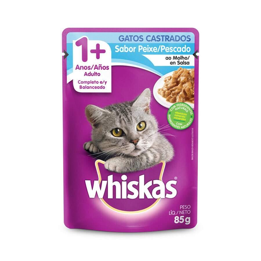 Sache Whiskas 1+ Peixe Castrado  85g