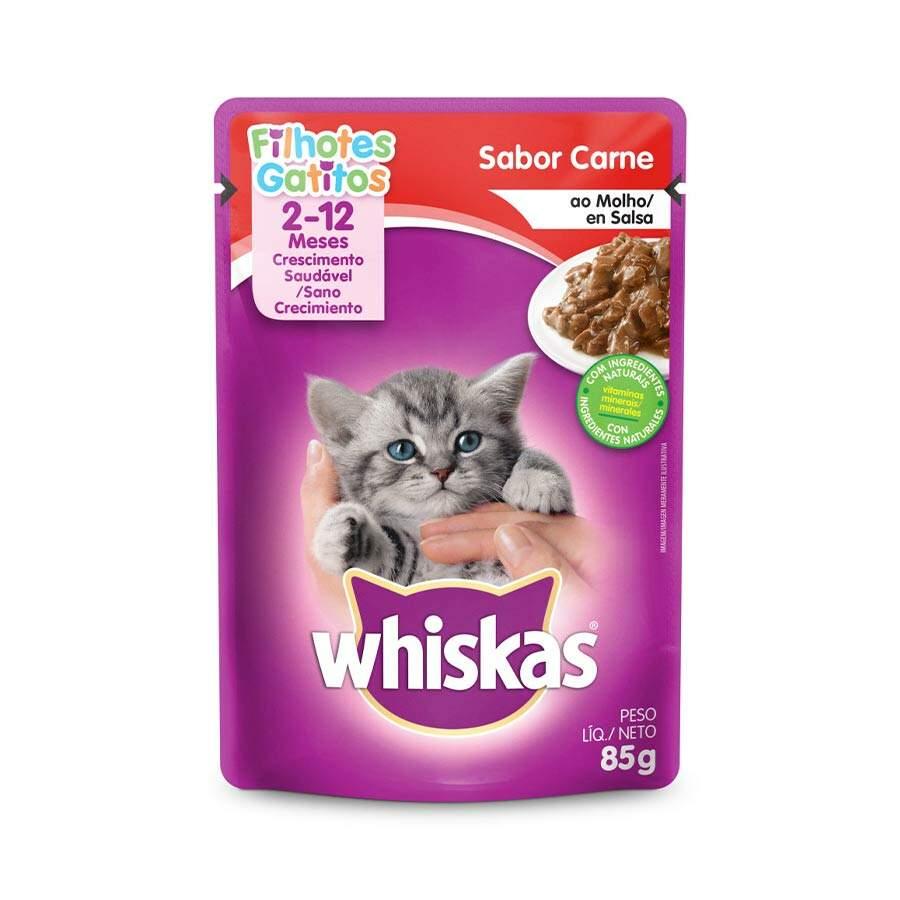 Sache Whiskas 2-12 Carne Filhotes  85g