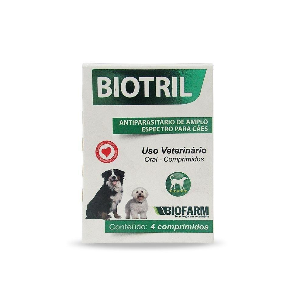 Vermifugo Biotril - Blister com 4 comprimidos