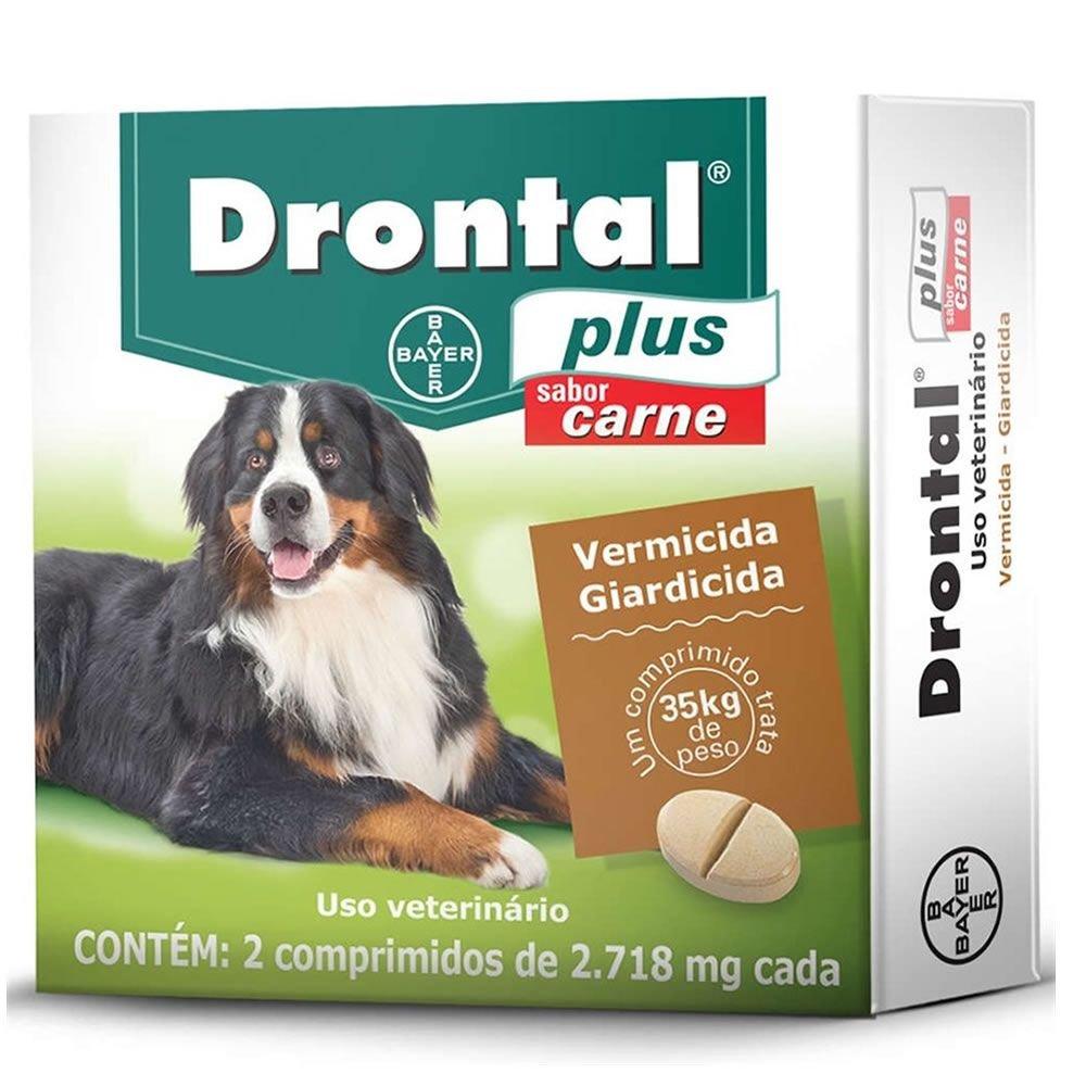 Vermifugo Drontal Plus 35Kg - Caixa com 2 Comprimidos