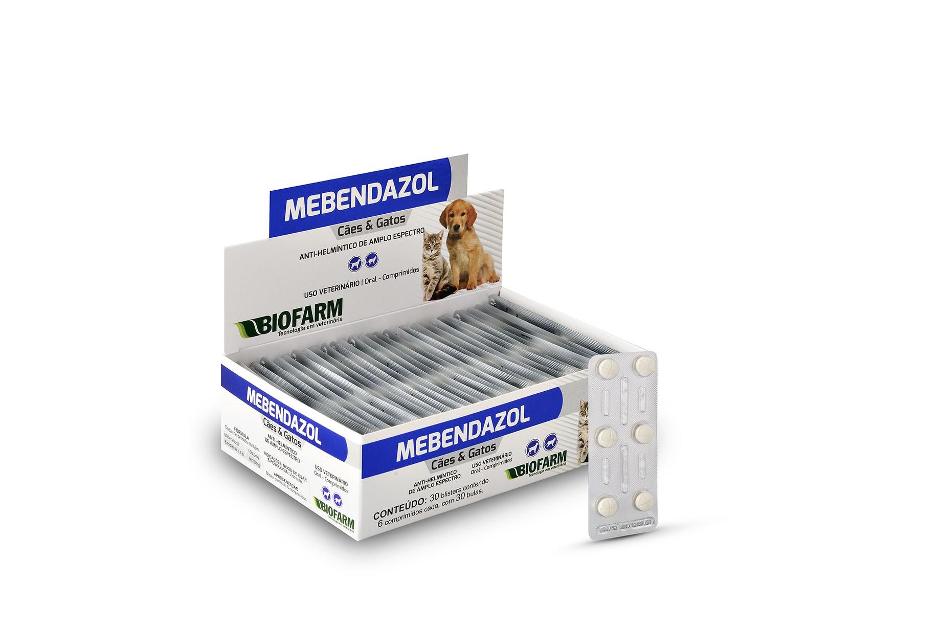 Vermífugo Mebendazol - Blister com 06 Comprimidos