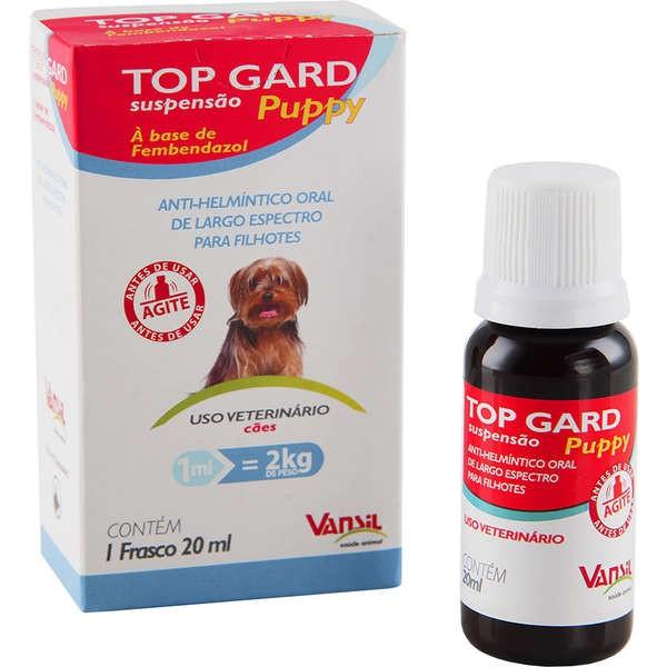 Vermifugo Top Gard Plus Filhotes - 20Ml