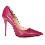 Scarpin Carrano Couro Rosa Pink Salto Alto Fino, 11,5cm