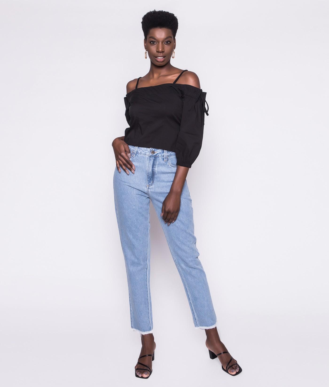 Calça Mom Jeans Basic