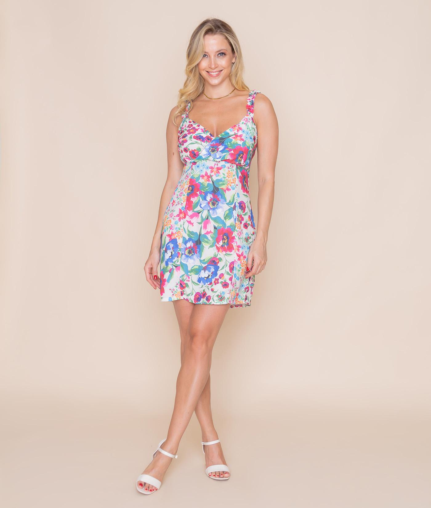 Vestido Floral Mirtilo
