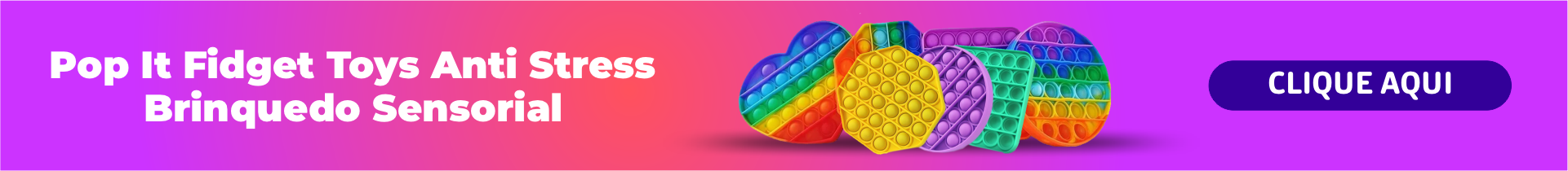 Pop It Fidget Toys Anti Stress Poc Pop Brinquedo Sensorial