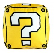 Almofada Cubo Interrogação Mario Bros. Lucky Block