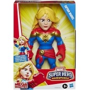Boneco Mega Mighties Articulado 25 cm Super Hero Adventures Capitã Marvel - Hasbro