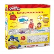 Brinquedo Educativo Tapete Bilíngue para Colorir - Play-Doh - Fun