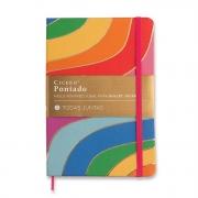 Caderneta Todas Juntas Rainbow Pontada 160 Folhas - Cicero