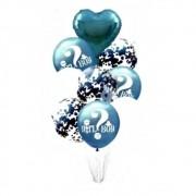 Conjunto Com 9 Balões Chá Revelação - Azul