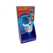 Microfone Bluetooth Karaokê Show Azul - Toyng