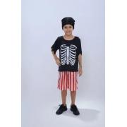 Fantasia Halloween Infantil Pirata Esqueleto Anjo Fantasias