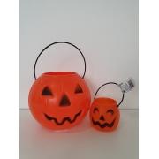 Kit Halloween Com 20 Baldes Cabeça De Abóbora