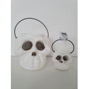 Kit Halloween com 20 Baldes Cabeça de Esqueleto